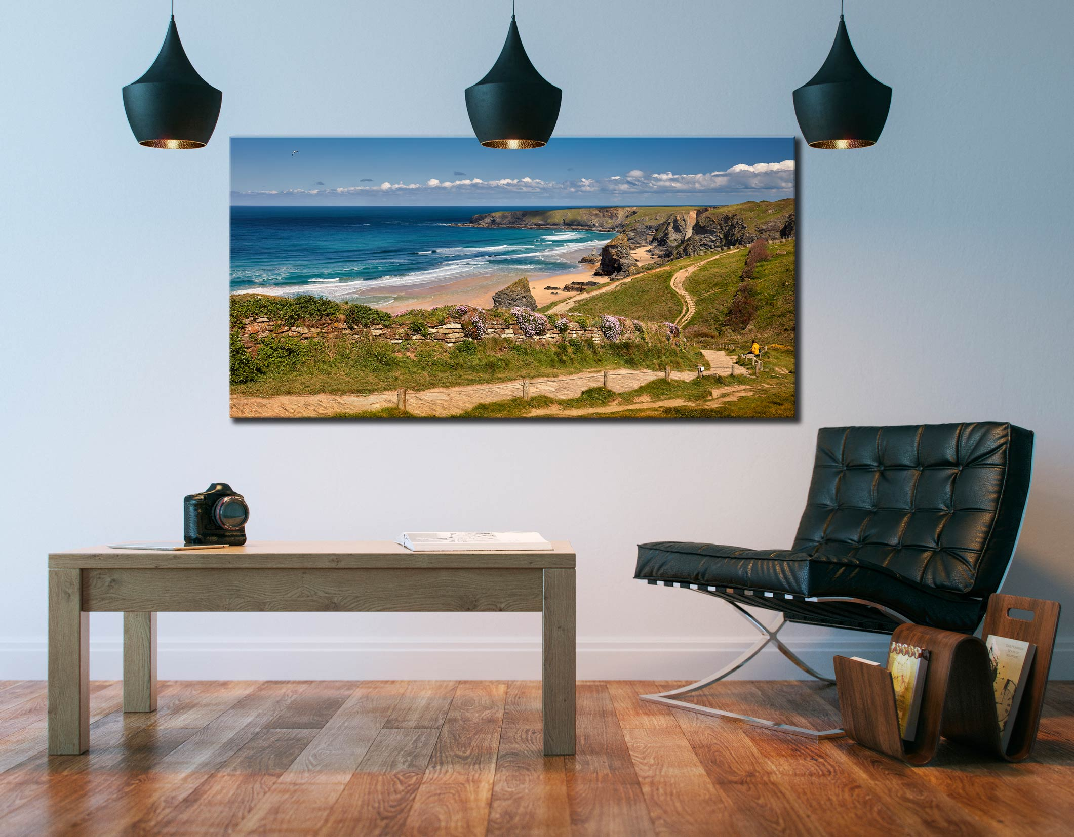 Path To Bedruthan Steps - Canvas Print on Wall