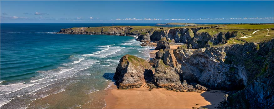 Cliffs and Stacks at Bedruthan - Canvas Print