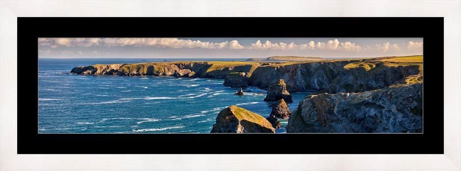 Bedruthan Steps Headland - Framed Print with Mount