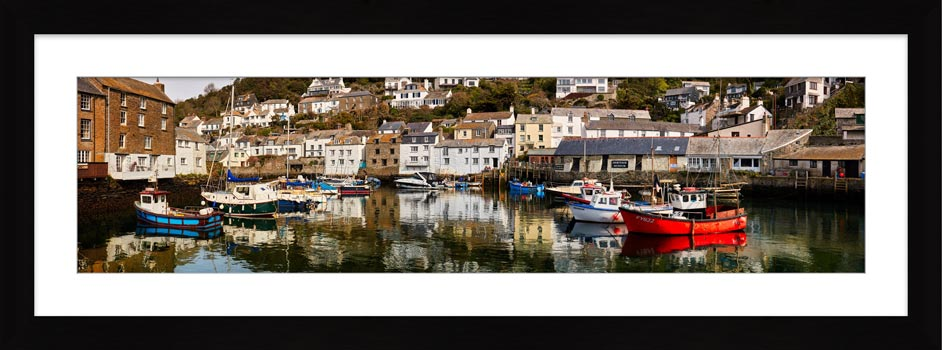 Polperro Reflections - Framed Print with Mount