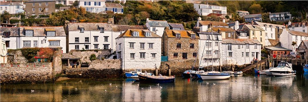 Harbour Cottages Polperro - Canvas Print