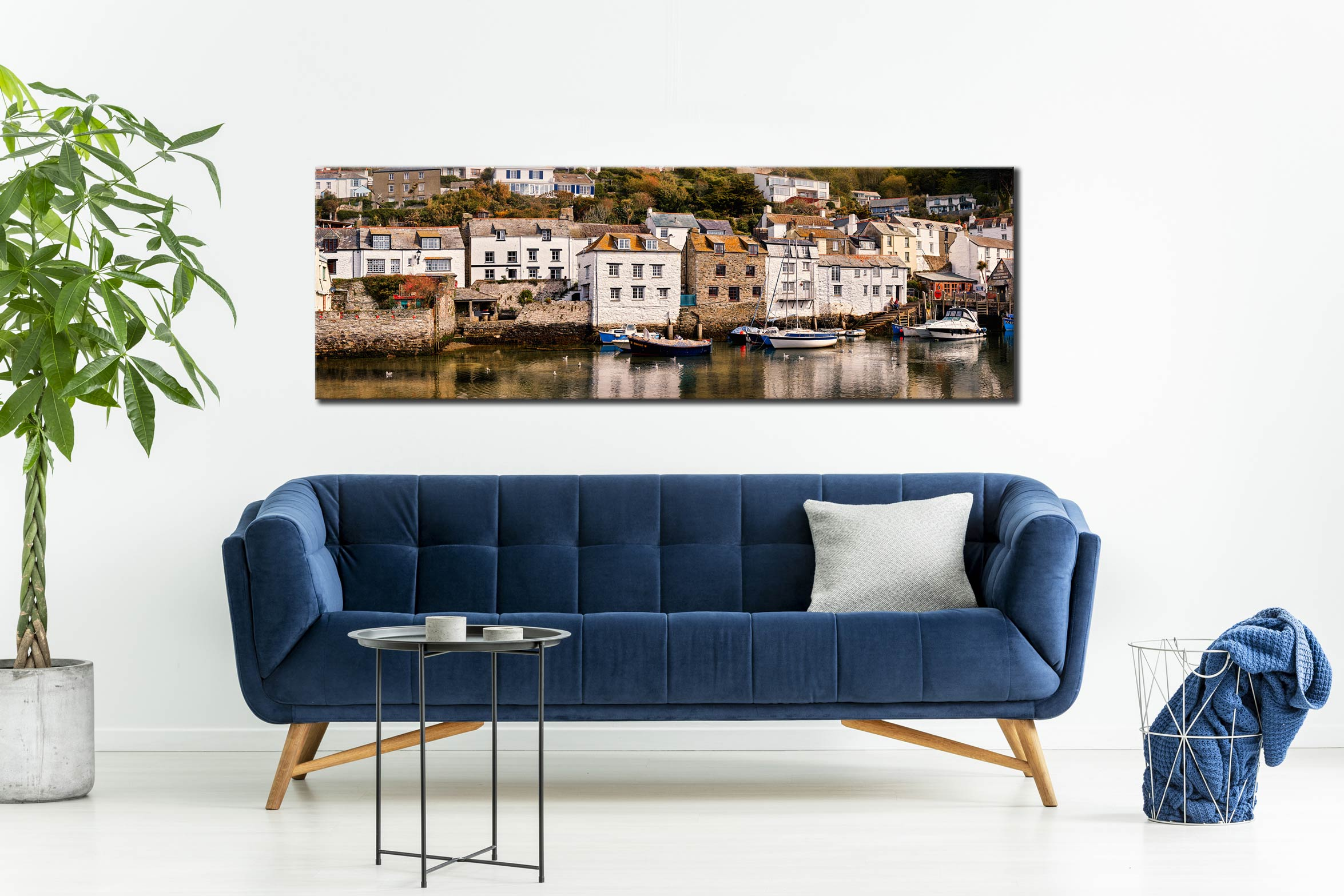 Harbour Cottages Polperro - Canvas Print on wall