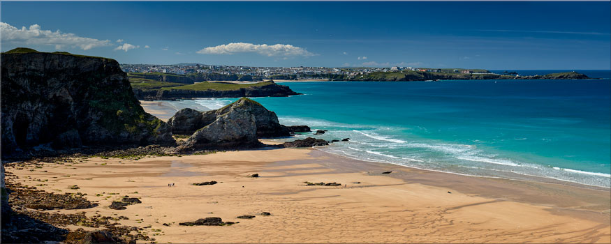 Porth Beach and Newquay - Canvas Print