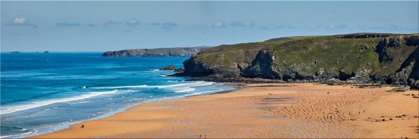 Watergate Bay Panorama - Canvas Print