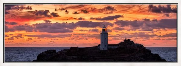 Painted Skies of Dusk at Godrevy - Modern Print