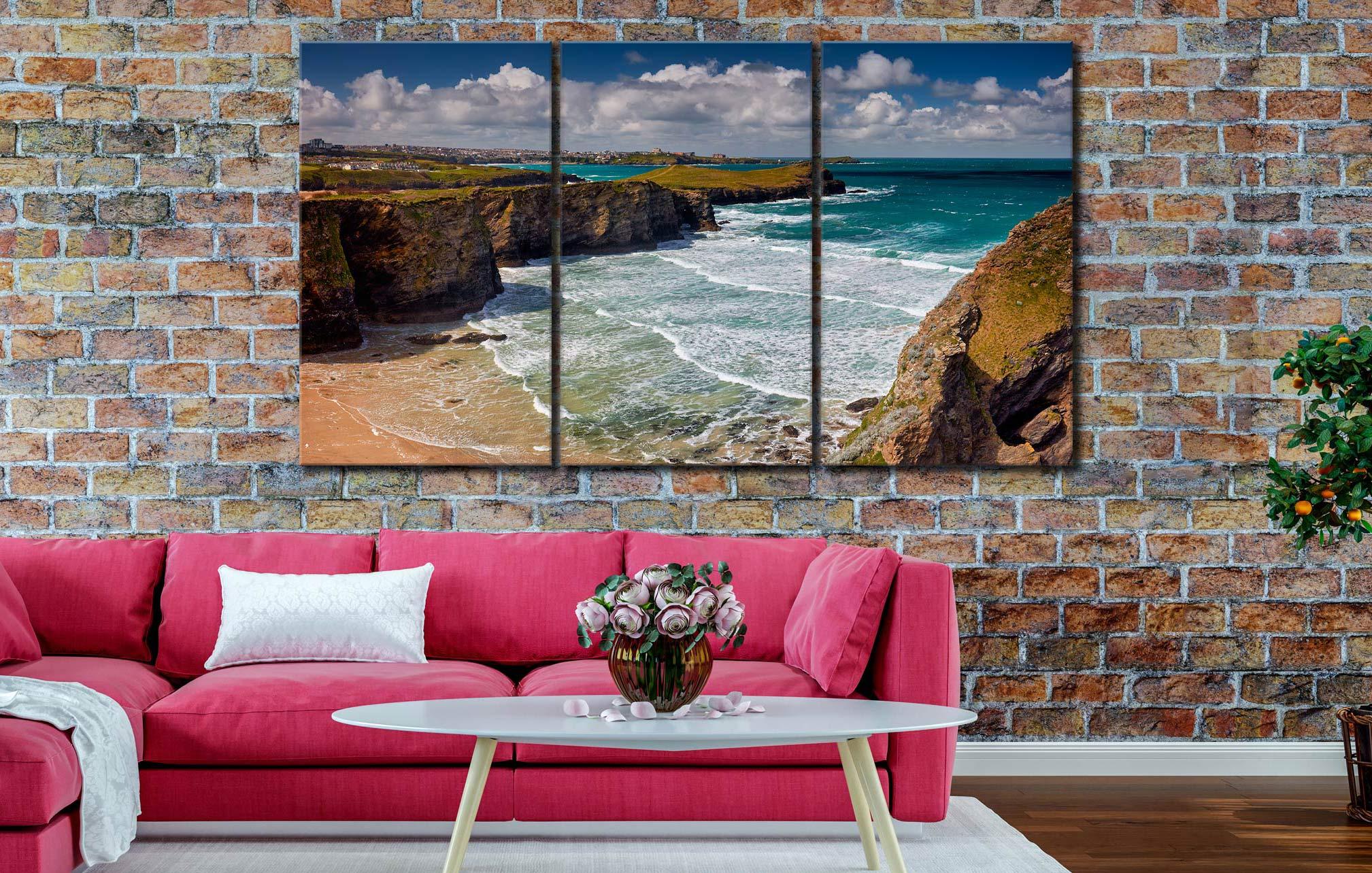 Porth Island - 3 Panel Canvas on Wall