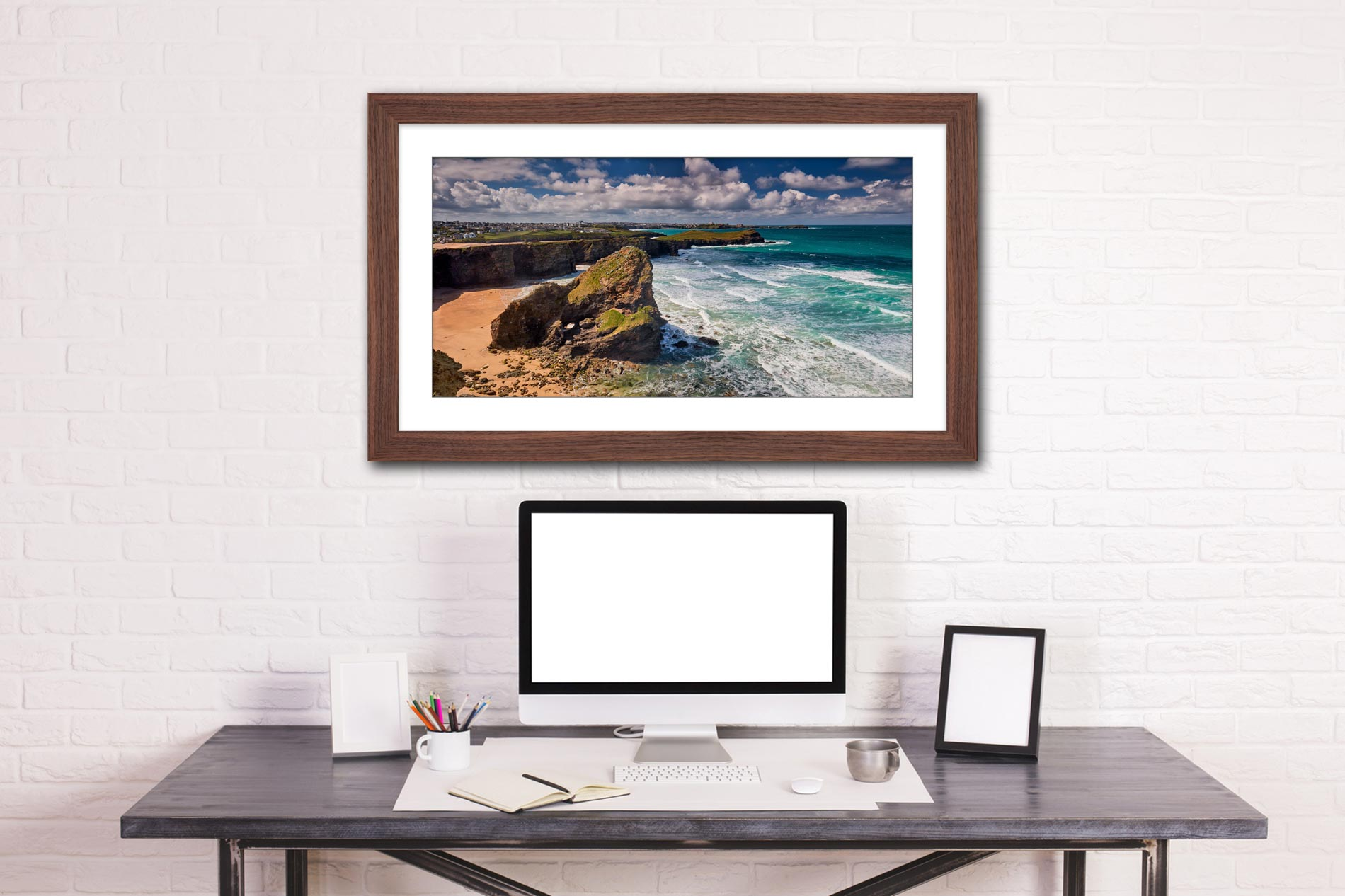 Black Humprey Rock - Framed Print with Mount on Wall