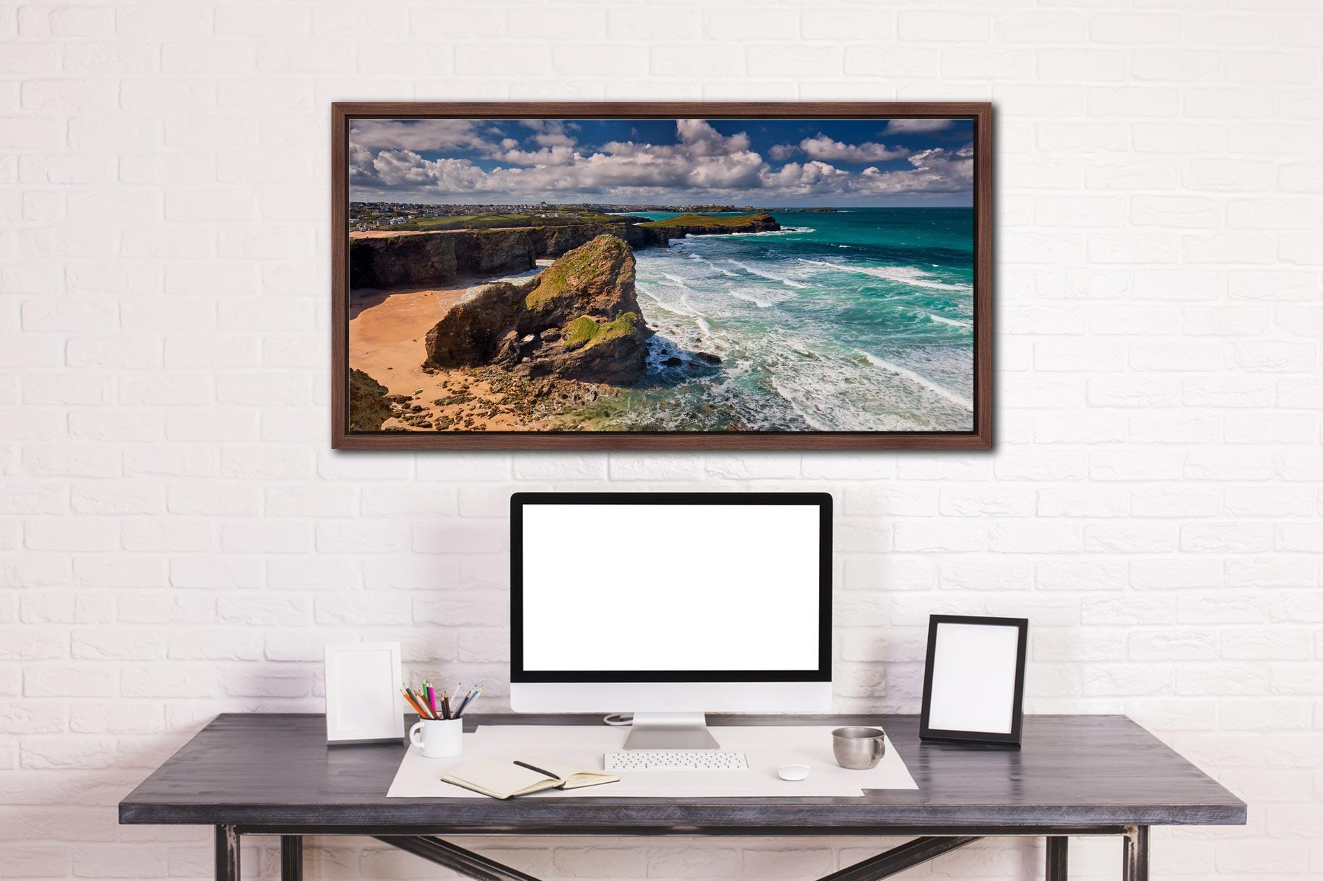 Black Humprey Rock - Walnut floater frame with acrylic glazing on Wall