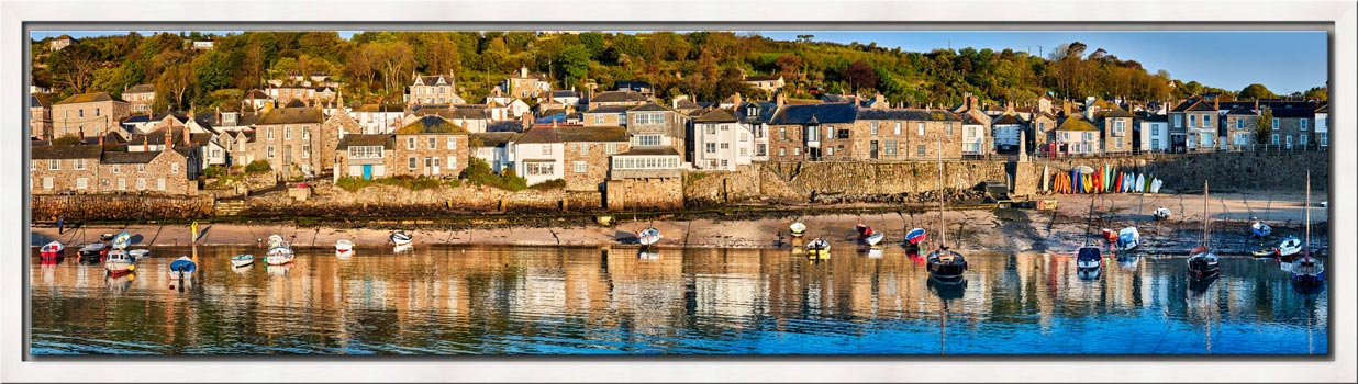 Mousehole Harbour Panorama - Modern Print