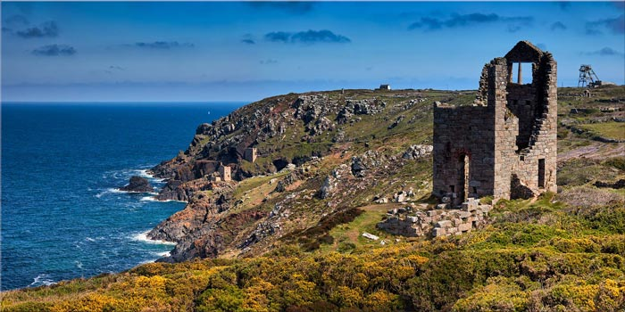 Mining Coast of Botallack - Canvas Print