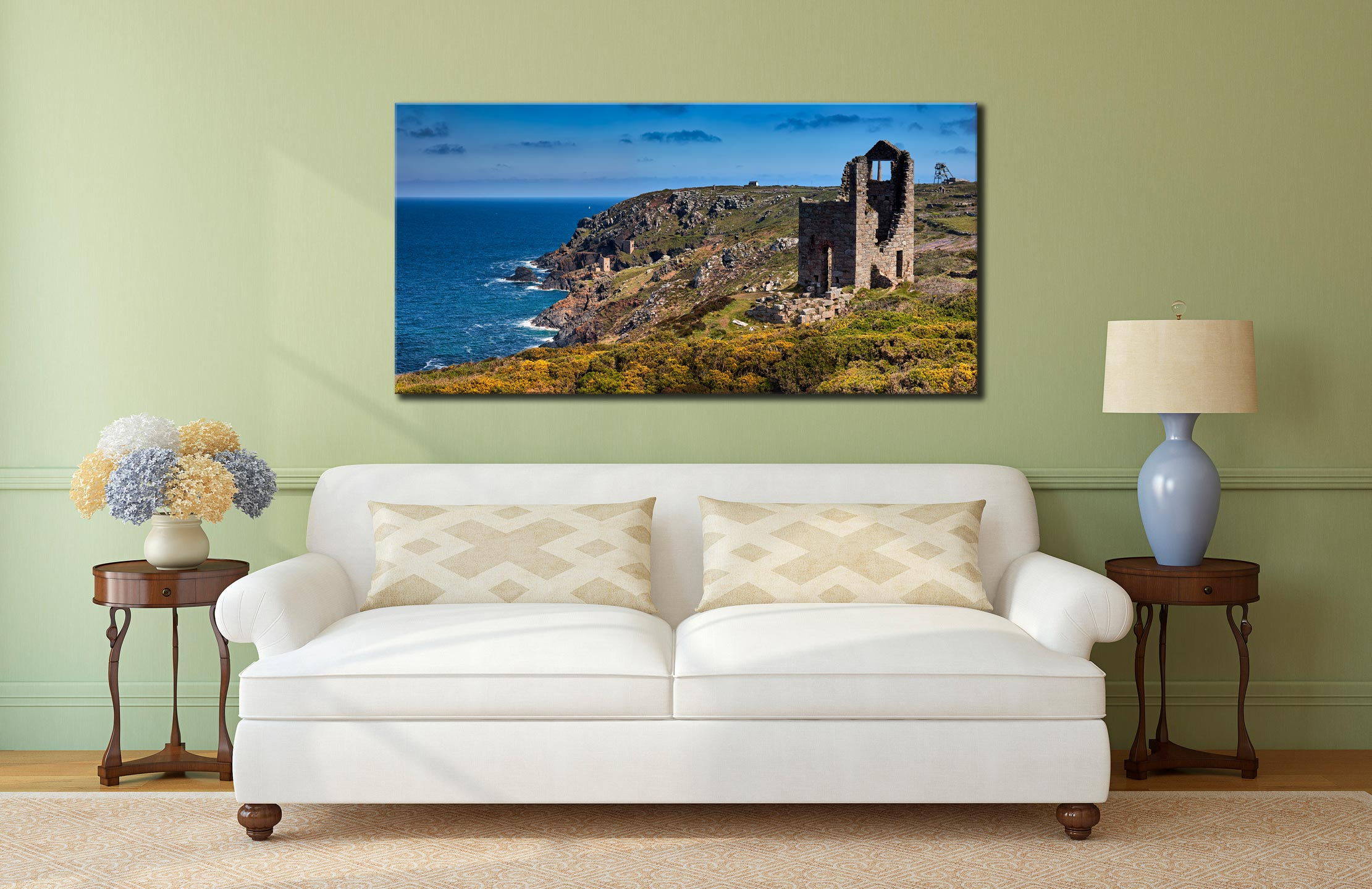 Mining Coast of Botallack - Canvas Print on Wall