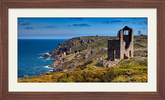 Mining Coast of Botallack - Framed Print with Mount