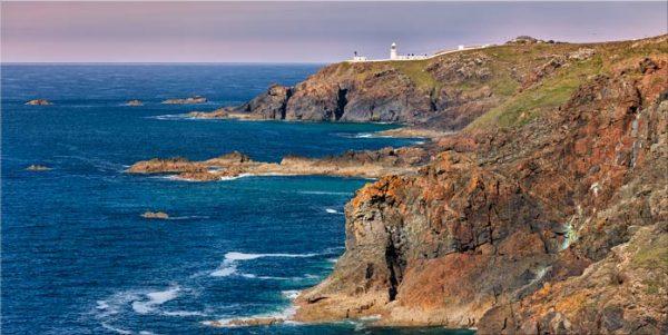 Pendeen Lighthouse Cliffs - Canvas Print