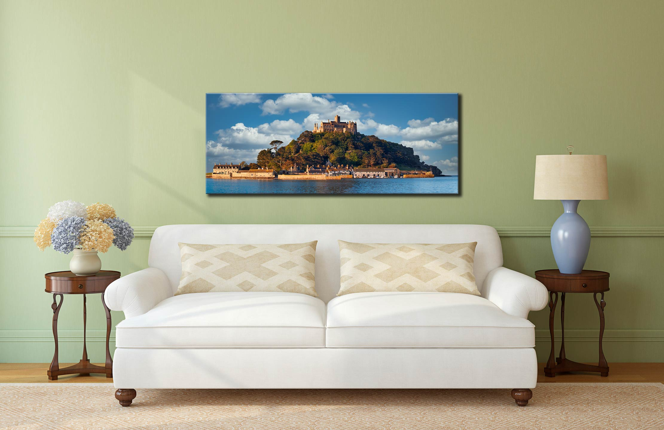 St Michaels Mount - Canvas Print on Wall