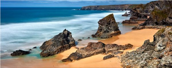 Postcard From Bedruthan Steps - Canvas Print