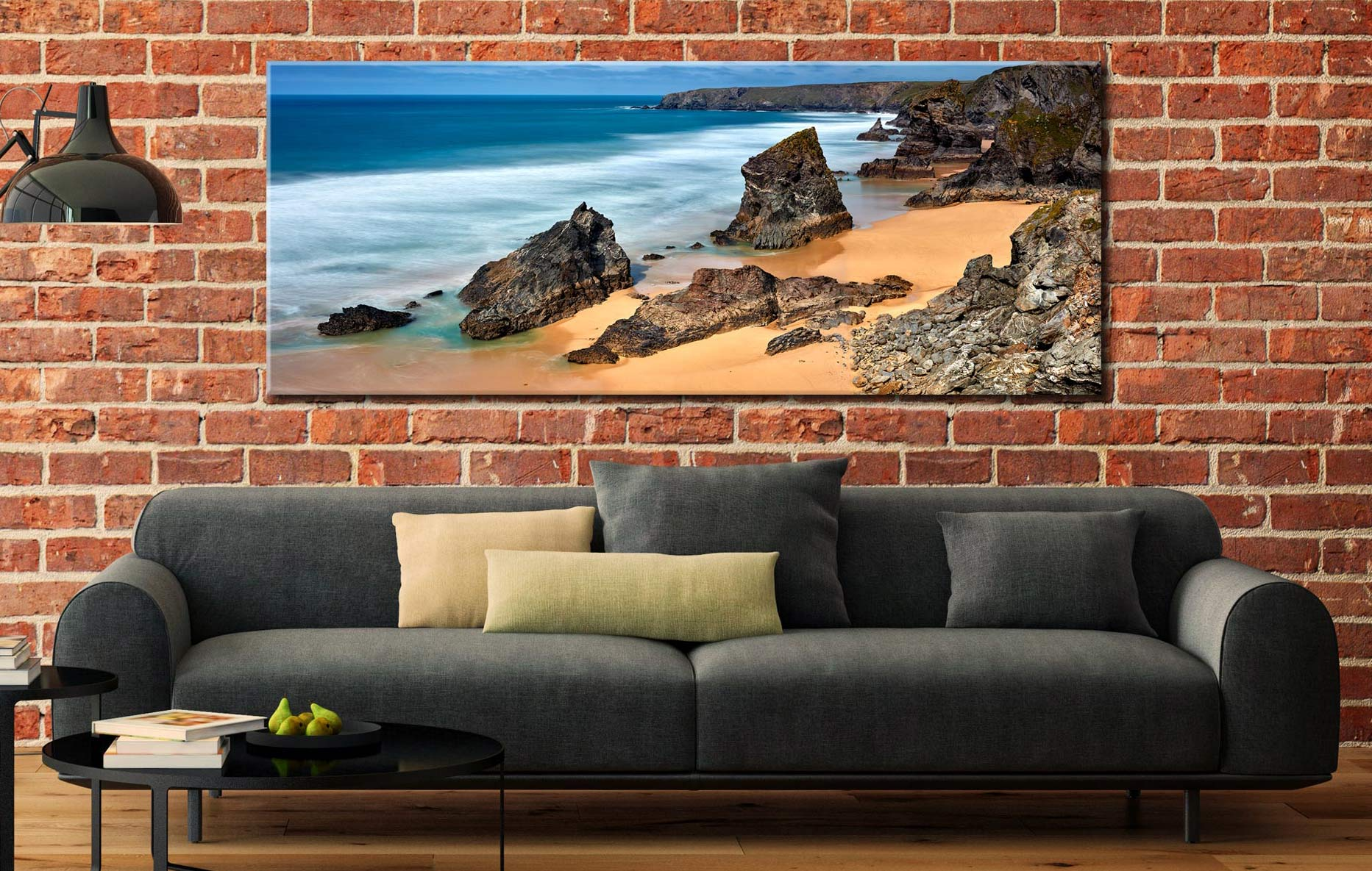 Postcard From Bedruthan Steps - Canvas Print on Wall