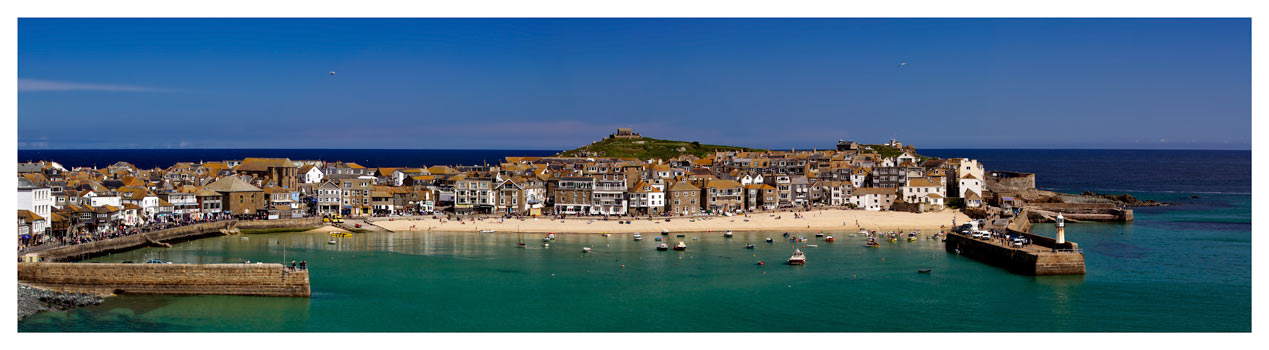St Ives Harbour Panorama - Cornwall Print