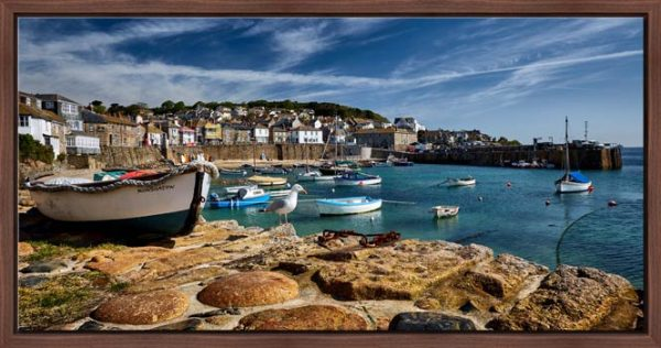 Mousehole Harbour Cornwall - Modern Print
