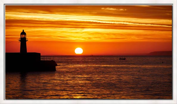 St Ives Harbour Sunrise - Modern Print