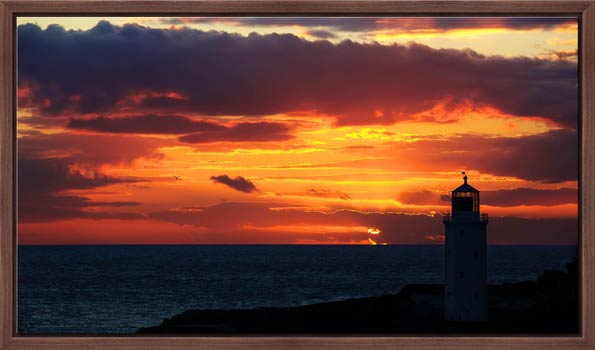 Golden Skies Over Godrevy - Modern Print