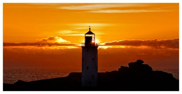 Sunbeams of Godrevy Lighthouse - Cornwall Print
