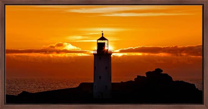 Sunbeams of Godrevy Lighthouse - Modern Print