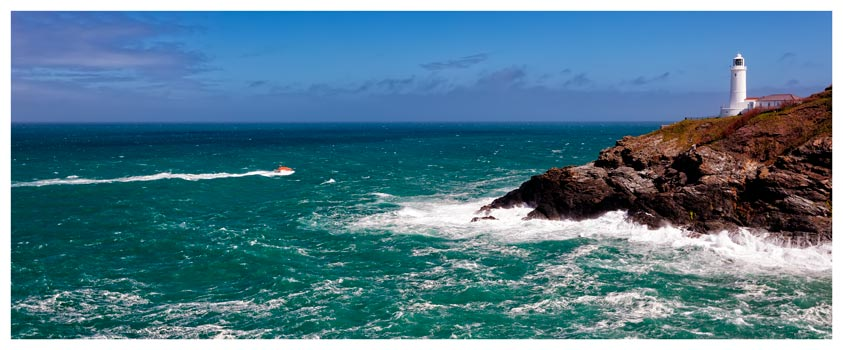 Trevose Head Lighthouse and Lifeboat - Cornwall Print