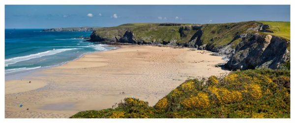 Spring at Watergate Bay - Cornwall Print