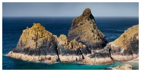 The Bishop Rock at Kynance - Cornwall Print