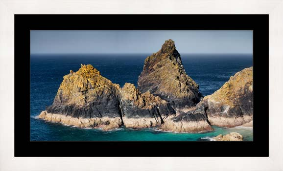 The Bishop Rock at Kynance - Framed Print with Mount