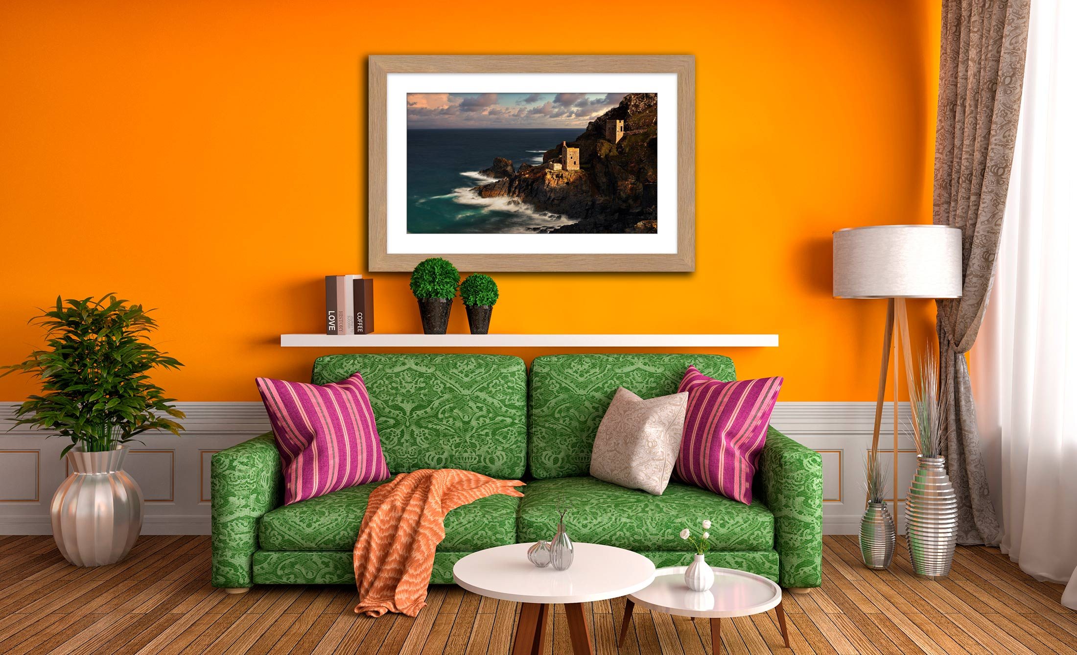 Botallack in the Sunshine - Framed Print with Mount on Wall