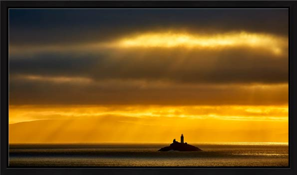 Morning Rays Over Godrevy Lighthouse - Modern Print