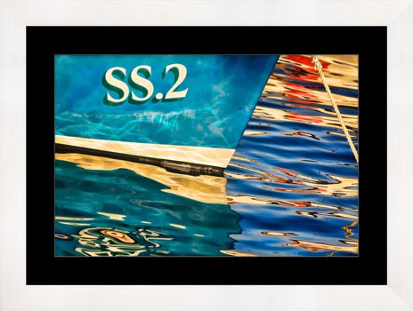 Water Colours St Ives Harbour - Framed Print with Mount