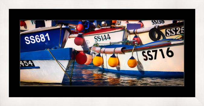 Crowded Harbour St Ives - Framed Print with Mount