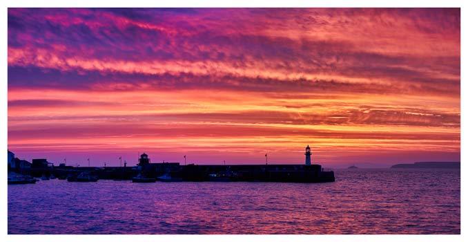 St Ives Purple Skies of Sunrise - Cornwall Print