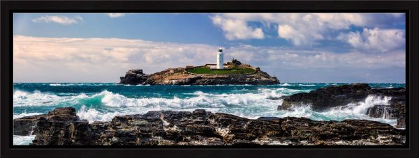 Godrevy Lighthouse Panorama - Modern Print