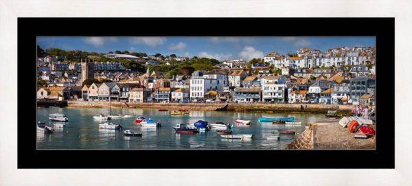 Wharf Road St Ives - Framed Print with Mount