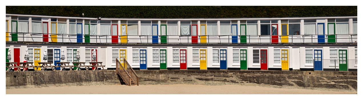 Porthgwidden Beach Chalets - Cornwall Print