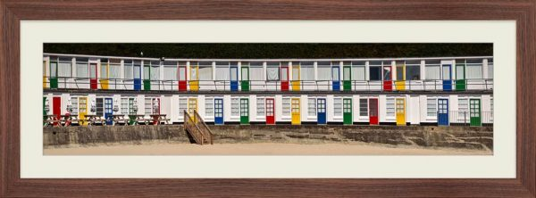 Porthgwidden Beach Chalets - Framed Print with Mount