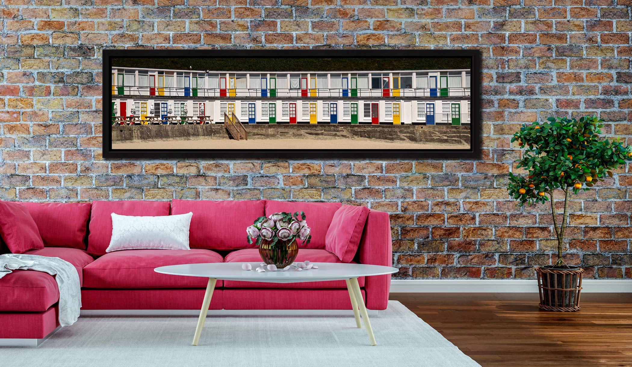 Porthgwidden Beach Chalets - Black oak floater frame with acrylic glazing on Wall