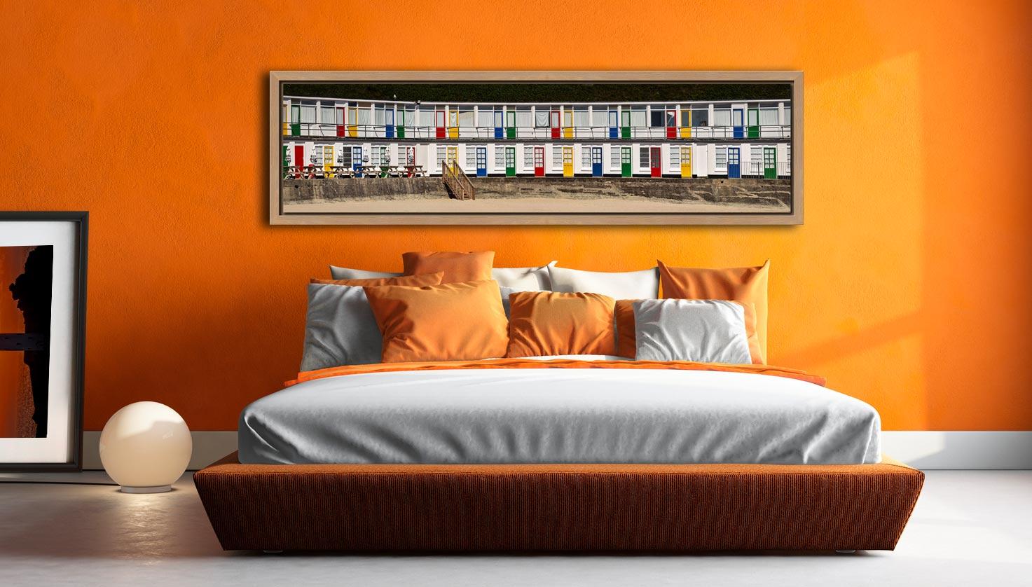Porthgwidden Beach Chalets - Oak floater frame with acrylic glazing on Wall