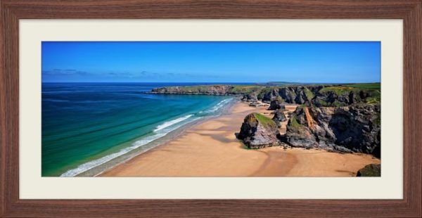 Bedruthan Beach Cornwall - Framed Print with Mount