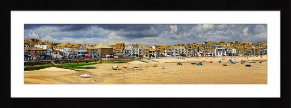 St Ives Harbour Beach - Framed Print with Mount