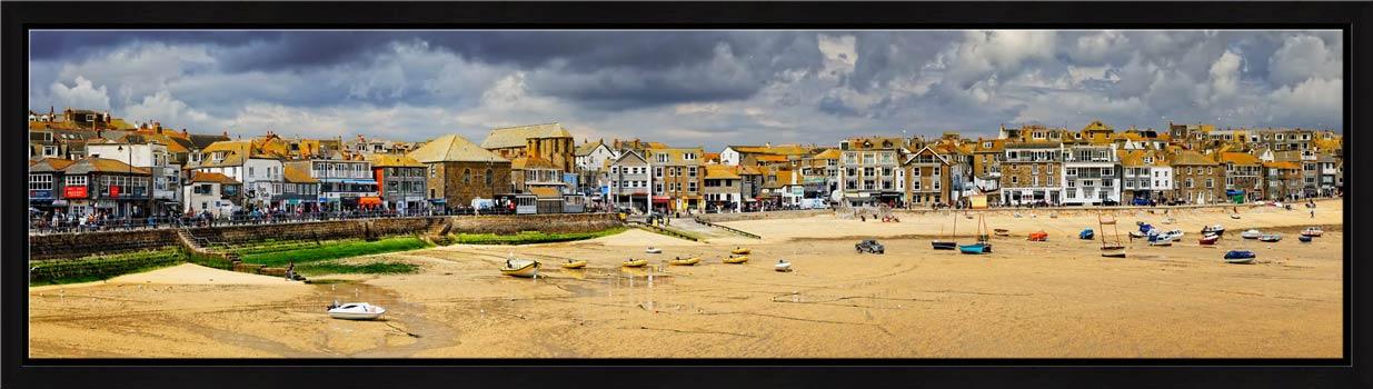 St Ives Harbour Beach Panorama - Modern Print
