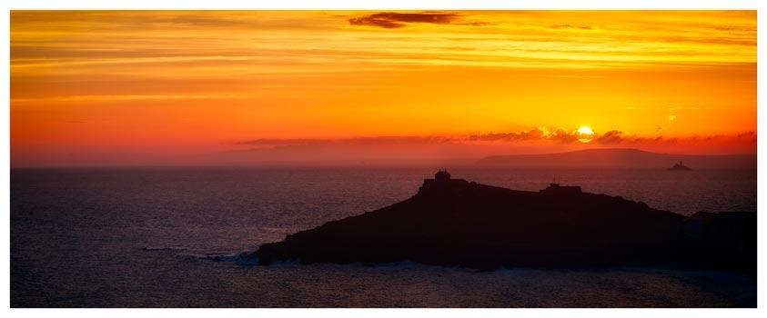 Sunrise Over St Ives Island - Cornwall Print