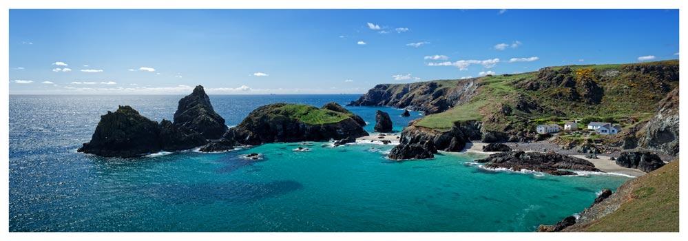 Kynance Cove Panorama - Prints of Cornwall