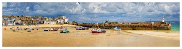 St Ives Cloudy Panorama - Cornwall Print