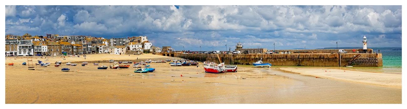 St Ives Cloudy Panorama - Cornwall Print