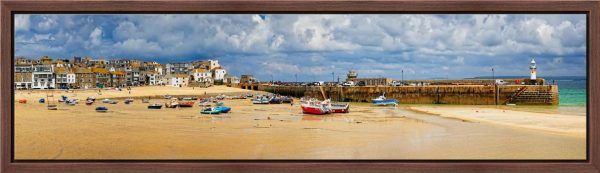 St Ives Cloudy Panorama - Modern Print