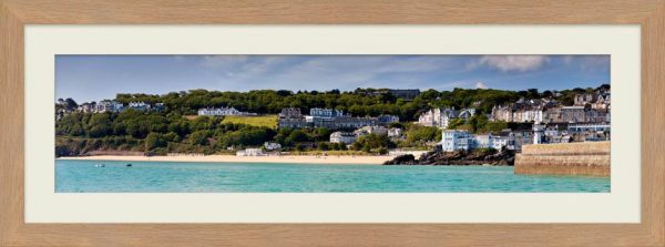 Porthminster Beach Panorama - Framed Print with Mount